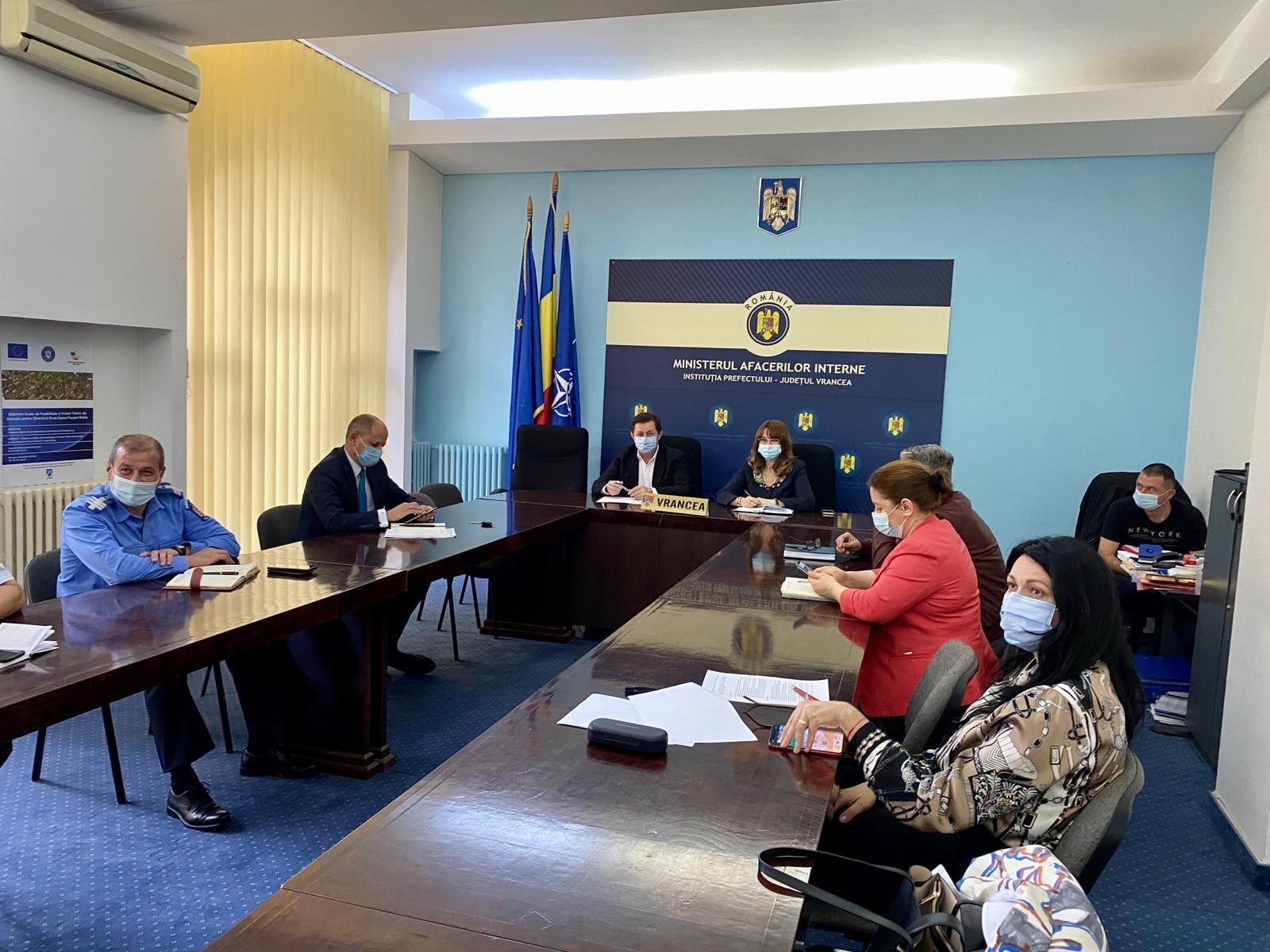 DSP Vrancea, prezentă la întrunirea Comitetul Județean pentru Situații de Urgență post thumbnail