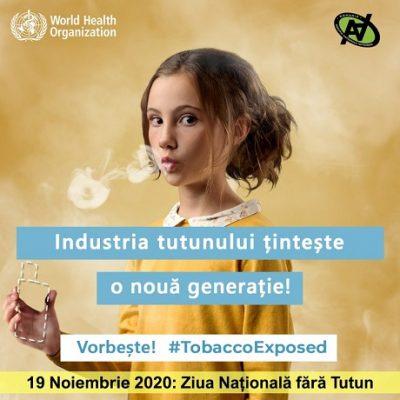 """""""Ziua naţională fără tutun"""", 19 noiembrie 2020 post thumbnail"""