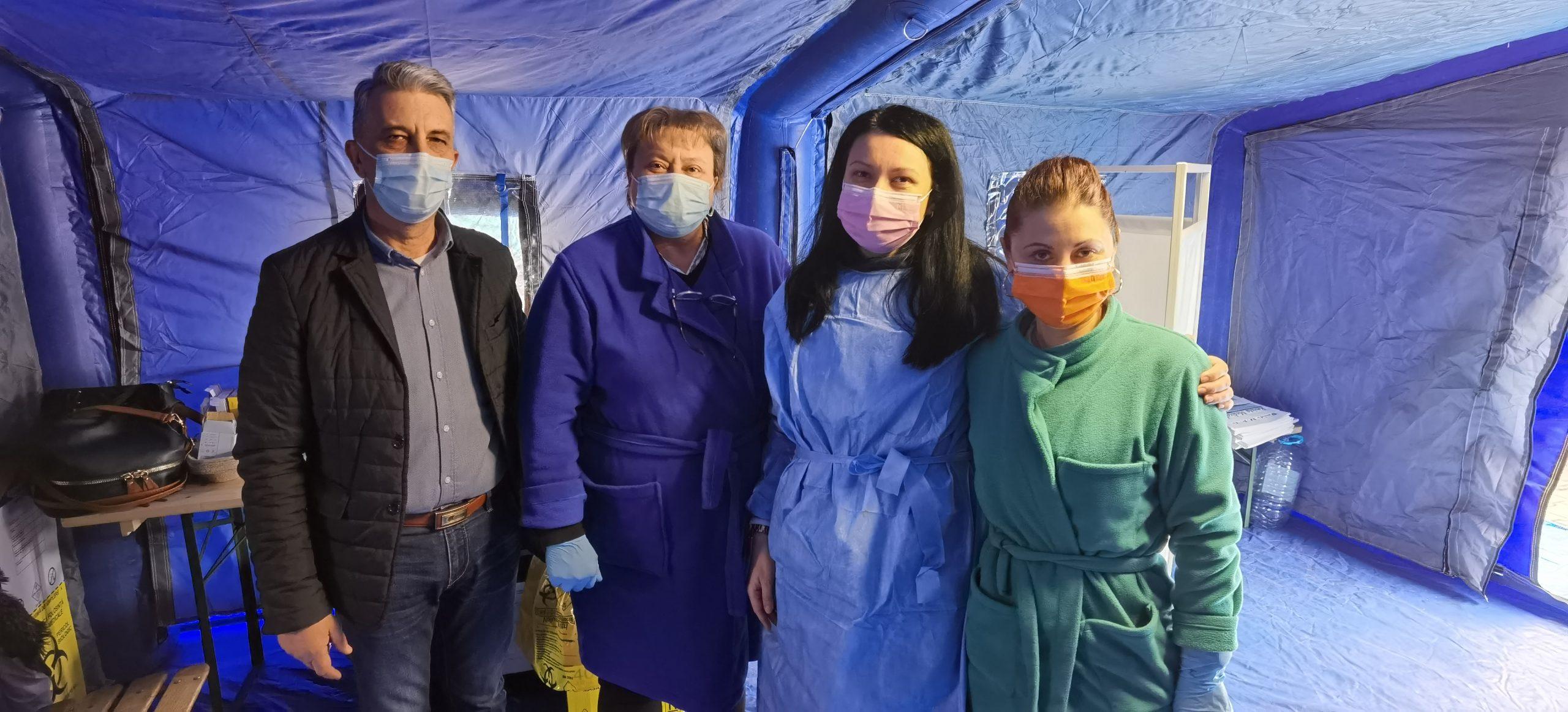 """DSP Vrancea, acțiune de verificare a centrului de vaccinare amenajat la """"Focșani Mall"""" post thumbnail"""